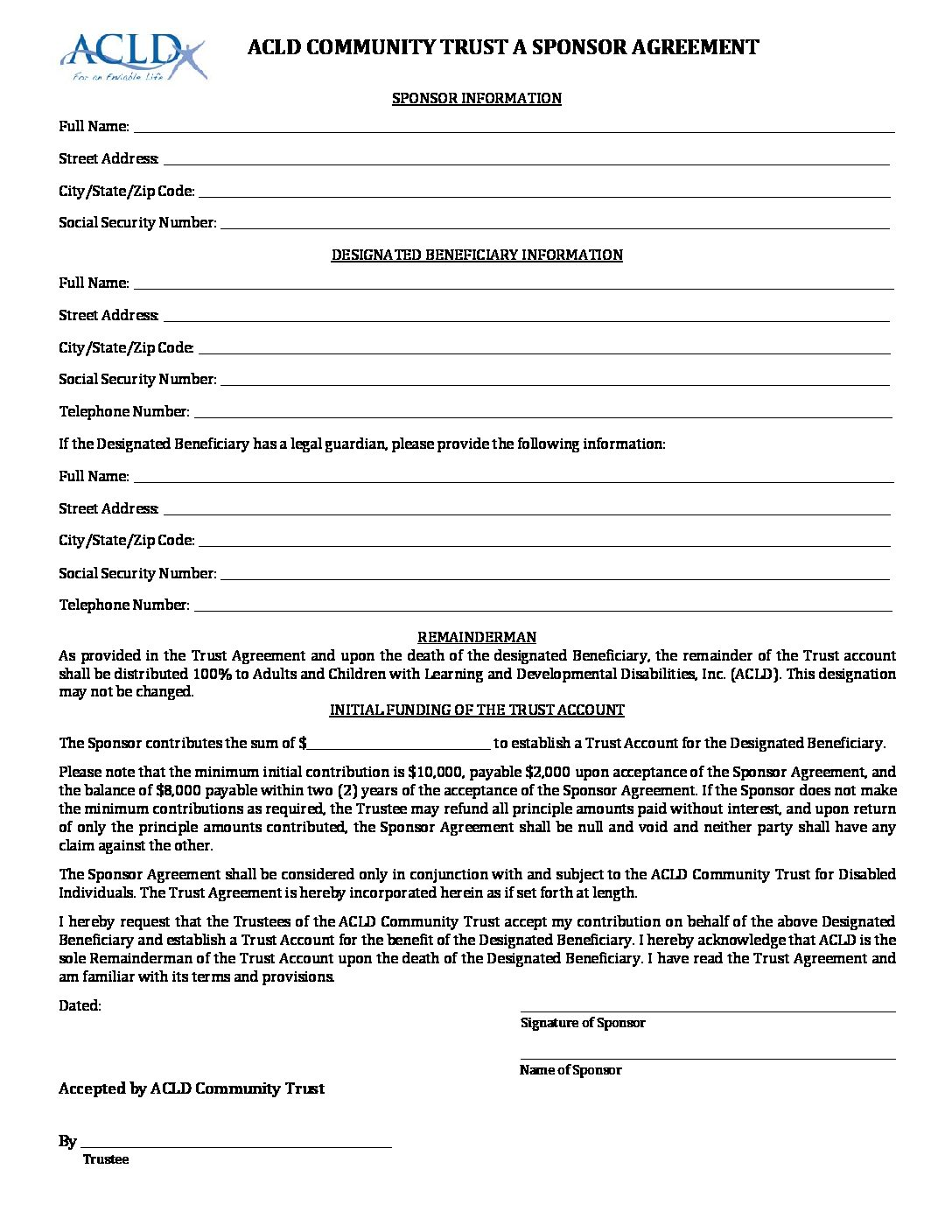 Trust A Joinder Agreement Adults And Children With Learning
